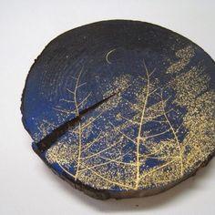 月と森の物語  金箔造形作家  きり金工房  晴