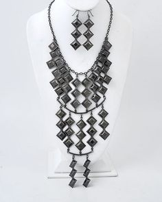 Hanging From the Chandelier Large Black Statement Necklace,  Find fun fabulous fashion jewellery and statement jewlry at Strike Envy. #jewellery #jewlry StrikeEnvy.com