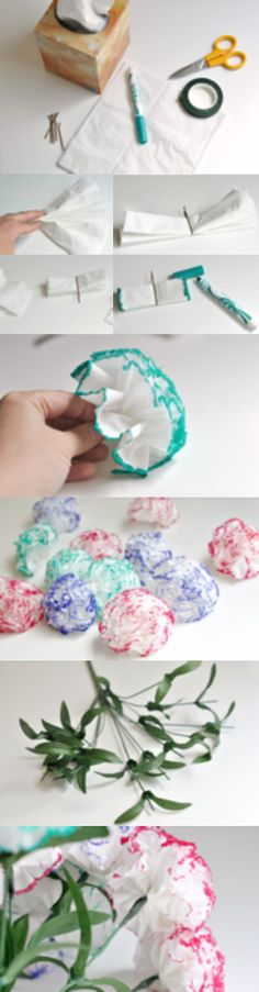 Do a little colored paper flowers ~
