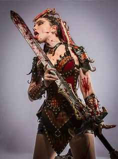 Ladies' Leather Red Dragon Slayer Fantasy by BruteForceStudios, $2500.00 See the creators website here: http://www.etsy.com/shop/BruteForceStudios?ref=seller_info