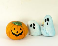 Halloween! Maybe make some for the flowerpots outside the front door and in the hall? Maybe use glow-in-the-dark paint for the ones outside?