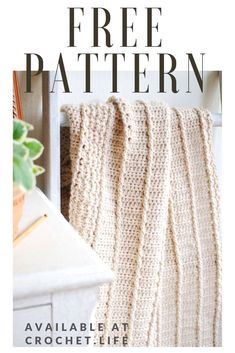 Free Crochet Patterns Easy to crochet blanket pattern. Have fun playing with stitch texture as you c Crochet Blanket Patterns, Baby Blanket Crochet, Crochet Baby, Free Crochet, Crocheted Afghans, Crochet Blankets, Diy Crochet Projects, Crochet Ideas, Back Post Double Crochet