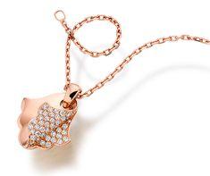 Khmissa Pendant - Pink gold and diamonds Diamond Jewelry, Gold Jewelry, Jewelery, Jewelry Necklaces, Bracelets, Simple Jewelry, Cute Jewelry, Fashion Necklace, Fashion Jewelry