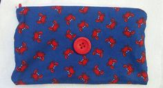 Lined zipper pouch by ChesterRiverBags on Etsy