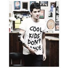 COOL Kids Don't Dance Shirt as seen on 1D One Direction Zayn, great... ($17) ❤ liked on Polyvore featuring one direction, zayn malik, zayn, 1d and people