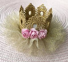 Encaje corona coronas de encaje oro corona decoración de la