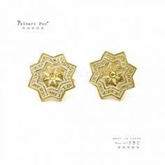 【FRI飾品】日本Palnart Poc宇宙幾何星(夾)耳環