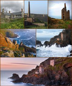 Botallack (Cornish: Bostalek) is a village in west Cornwall, England, It lies along the B3306 road which connects St Ives to the A30 road. The village is in a former tin mining area situated between the town of St Just in Penwith and the village of Pendeen. The Botallack Mine, former tin mines, are low down the cliffs north of Botallack. The BBC television series Poldark was filmed partly in Botallack, using Manor Farm as Nampara. Lae Maen Veor (Cornish: Legh Men Veur meaning great stone ledge), West Cornwall, Devon And Cornwall, Cornwall England, Castles To Visit, St Just, Manor Farm, Deer Park, Kingdom Of Great Britain, Rock Pools