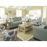 Found it at Wayfair - <strong>Signature Design by Ashley</strong> Sanford Living Room Collection Love the colors....flower pattern a little to big though