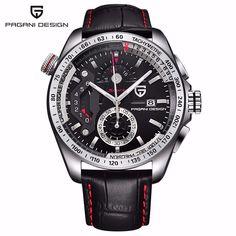 US $126.91 - Reloj Hombre Pagani Design Sport Leather Strap Watches Men Top Brand Luxury Multifunction Quartz Watches Clock Relogio Masculino
