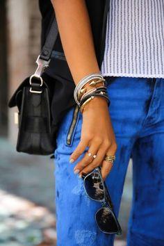 Bracelets, bag, sunglasses. Summer aiiight