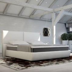 Innocent Box Spring lit blanc en similicuir Lanvin B 180 x L 200 cm: Tweet Le lit Boxspring «Lanvin» également connu sous le nom de «lit…