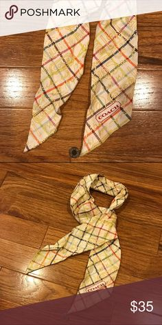 Graffiti Coach Scarf / Necktie Brand new condition, only worn once ....(The more you buy, the more I lower my prices so bundle & save!!) Coach Jewelry