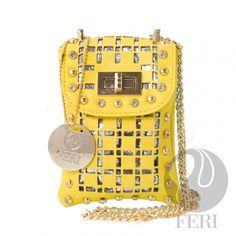 - Mini faux leather shoulder bag - Laser cutouts to reveal shiny PU leather - Gold toned hardware and chain strap - Flap opening - 2 interior compartments - Custom FERI Lining - Dimension: x x Posh Products, Luxury Bags, Go Shopping, Purses And Handbags, Leather Shoulder Bag, Product Launch, Designer Bags, Pu Leather, Wallets