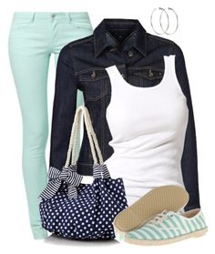 """""""Stripes & Polka Dots"""" by wishlist123 ❤ liked on Polyvore featuring VILA, Tommy Hilfiger, Soaked in Luxury, Beach Collection, DKNY and Marc by Marc Jacobs"""