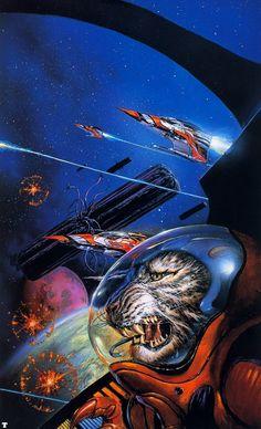 Space Cat Saturday. Bob Eggleton.