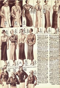 In the 1930s, a trend was to wear your skirt at a longer length with a more natural waistline.   -GF