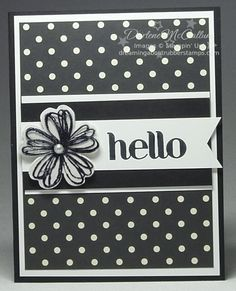 An image from the Flower Shop stamp set was stamped onto a window sheet and added to this card created with Modern Medley paper.