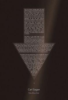 Carl Sagan Pale Blue Dot Poster 8x10 11x14 11x17 or by missingtime