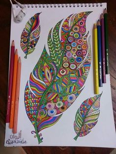 Art community for paintings & drawings only, created by Eren Mckay for those who love art. Feather Drawing, Feather Painting, Feather Art, Mandala Drawing, Mandala Painting, Mandala Art, Doodle Coloring, Mandala Coloring, Calligraphy Borders