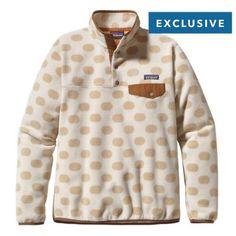 ISO Patagonia Synchilla Khaki polka dot Patagonia Womens Synchilla Snap-T Fleece Pullover  Khaki polka dot size medium or large Patagonia Other