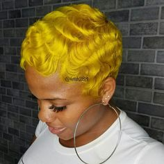 Retro Hairstyles, Wig Hairstyles, Curly Hair Styles, Natural Hair Styles, Pixie Styles, Finger Waves Short Hair, Short Hair Cuts, Pixie Cuts, Short Pixie