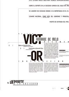 Editorial: Publicación deportiva de 8 paginas, con diversas tipologias y funcionamiento de las mismas sin la necesidad de imagenes