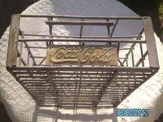 KQQL Vintage COCA COLA Iron Metal Industrial Chic Collectibe Crate