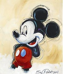 Mickey Mouse painting