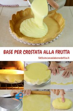 BASE DI PASTA FROLLA PER CROSTATA DI FRUTTA DI BENEDETTA. Cheesecake Desserts, Mini Desserts, Fall Desserts, Tart Recipes, Sweet Recipes, Cooking Recipes, Sweets Cake, Cupcake Cakes, Sweet Cooking