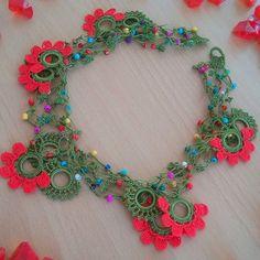 Etgdizayn~Elif Güngör/Tekirdağ (@etgdizayn) | Instagram photos and videos Cute Crochet, Knit Crochet, Silk Thread Necklace, Crochet Collar, Crochet Bracelet, Macrame Jewelry, Like4like, Handmade Jewelry, Jewelry Making