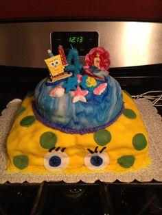 Under the sea cake.. Spongebob and little mermaid
