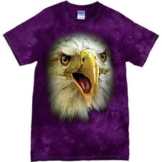 [Tie Dye Tee] - Oversized Eagle - Artopia | With the Tie Dye pattern, no two shirts are the same!Our Tie Dye Tee is made with 5.3 oz. 100% cotton and is preshrunk.