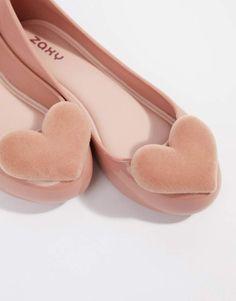 00b98790ca Zaxy flock heart valentines flat shoes  ad  ValentinesDay   valentinesdaygift  valentinesdayoutfit  valentinesdaydecor