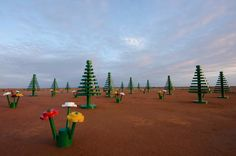 A magical life-sized #LEGO® Forest sprouts in the Outback NSW in celebration of the 50th anniversary of the LEGO