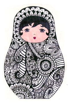 nesting+doll+coloring+pages | Matryoshka - coloriage nesting dolls matrochka-matriochka-matryoshka ...