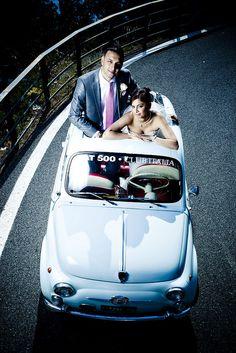 Wedding on a Fiat 500