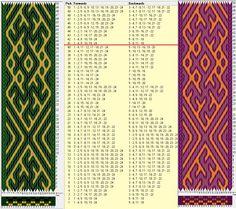 24 tarjetas, 3 colores, repite cada 40 movimientos // sed_675 diseñado en GTT༺❁