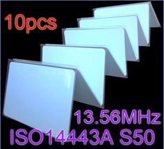 [Visit to Buy] 10pcs/Lot RFID Card 13.56Mhz ISO14443A MF S50 Re-writable Proximity Smart Card NFC Card 0.8mm Thin For Access Control System #Advertisement