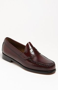 Bass and Co. Bass & Co. 'Logan' Penny Loafer, Lustrous leather catches the eye in a tailored penny loafer. Boat Shoes, Men's Shoes, Dress Shoes, Loafer Shoes, Minimalist Shoes, Minimalist Fashion, Penny Loafers, Loafers Men, Derby