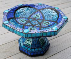 Little Sparrow Small Mosaic Birdbath Garden Statuary MOO5076. $330.00, via Etsy.