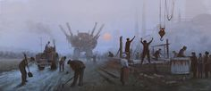 Bizarre paintings of mecha robots attacking East European peasants of the early 20th century | Dangerous Minds