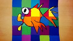 Art lessons from Belgium: Fish in warm and cool colors.