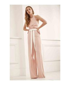 Halter style with loop buttons at neck. Bodice lined. Wide leg with small pleats at waist Overall, Jumpsuits For Women, Wide Leg, Bodice, Rompers, Legs, Shopping, Collection, Dresses
