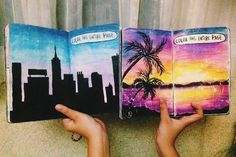 "324 Likes, 5 Comments - Emma (@fartsy.emma) on Instagram: ""City or nature? Which one is better? ☺️ #wtj #wreckthisjournal #wreck #this #journal…"""