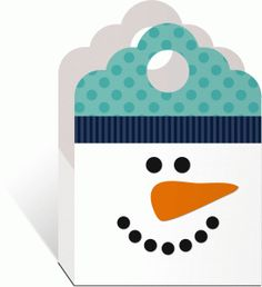 3d snowman tote---------------I think I'm in love with this shape from the Silhouette Online Store!