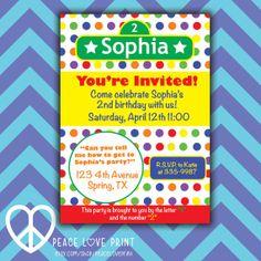Sesame Street 5x7 Printable Birthday Invitation by PeaceLovePrint, $7.99 #birthdayparty #sesamestreet #invitation #printable #partysupplies