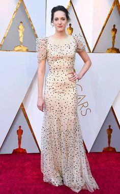 Phoebe Waller-Bridge from 2018 Oscars Red Carpet Fashion