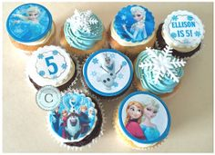 12 x Edible DISNEY FROZEN Cupcake & Cookie Toppers, PRINTS, (PRE CUT). Delivery worldwide!