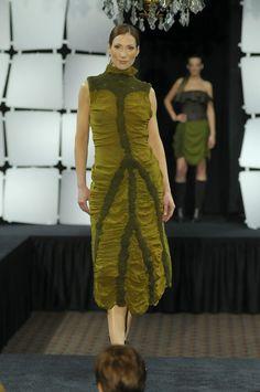Green Nuno Felted Forest Dress - Silk/Wool - Wearable Art - OOAK. $769,00, via Etsy.